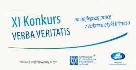 XI Konkurs VERBA VERITATIS na najlepszą pracę z zakresu etyki biznesu